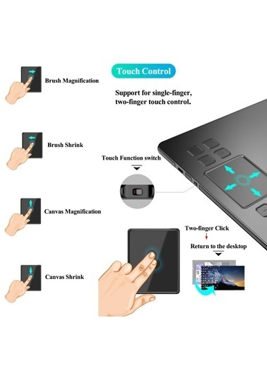 """Veikk Veikk A50 10 x 6"""" Grafik Tablet Renkli"""